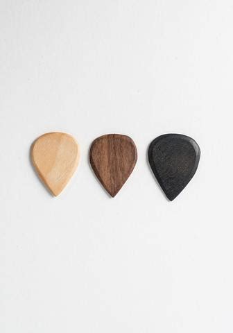 Handmade Guitar Picks - handmade wood guitar picks by bohem bohem