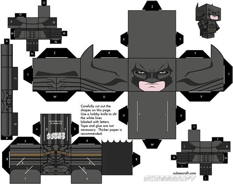 Batman Papercraft - fashion and the paper rises batman bane