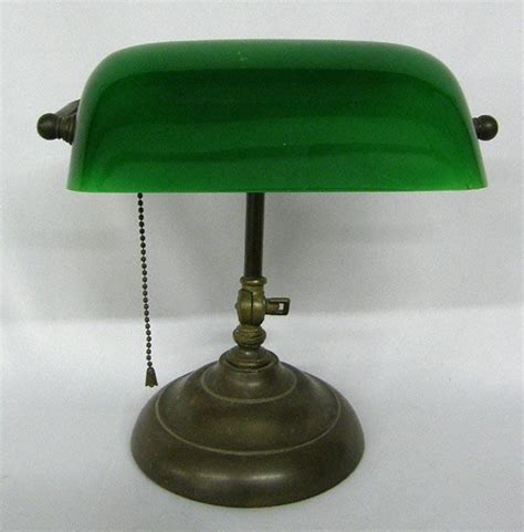 antique green bankers l vintage green glass bankers l