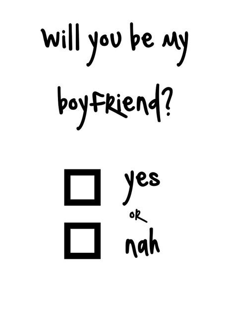 Will You Be My quot will you be my boyfriend yes or nah quot by ninwiito