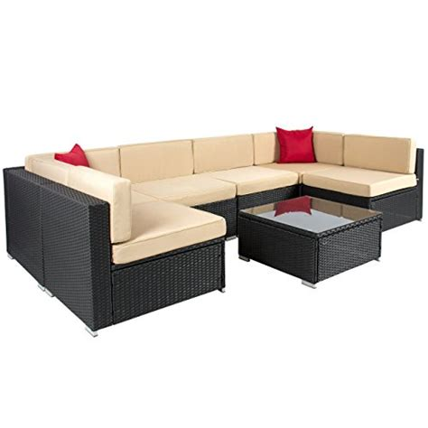wicker sectional patio furniture best choiceproducts 7 outdoor patio garden furniture