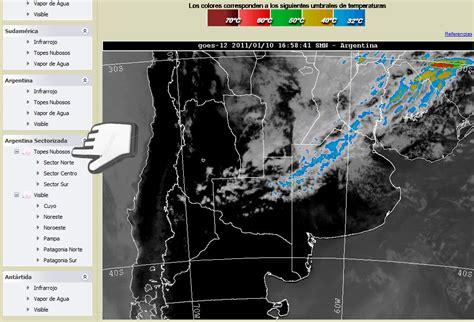 imagenes satelitales smn argentina salta argentina turismo mapa