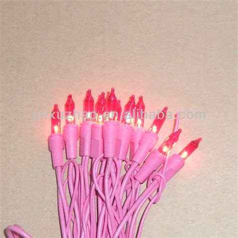 20l ul 120v pink wire pink incandescent mini christmas