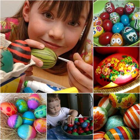 decorare oua paste copii tehnici de vopsit oua si copiii pot orna oua de pasti