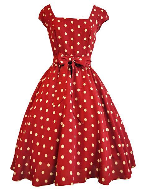 Dress Polka Liq wine polka dot swing dress we how to do it