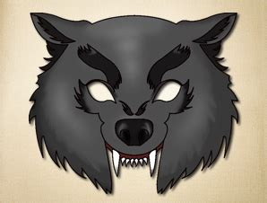 printable wolf mask black and white the many uses of paper masks the printable mask shop