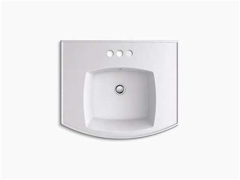 kohler elliston pedestal sink k r6374 4 elliston pedestal sink basin 4 inch centerset