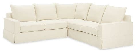 Square Shaped Sofa by Pb Comfort Square Slipcovered Three L Shaped