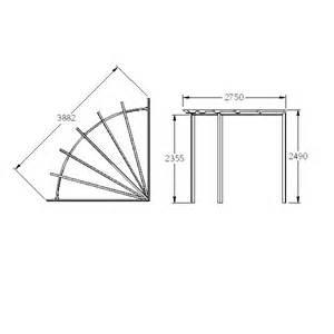Radial Pergola by Forest Garden Radial Pergola 90 Degree Shaped Design Fsc