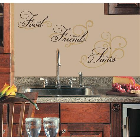 peel and stick wall decals roommates good food peel and stick wall decal rmk1692scs