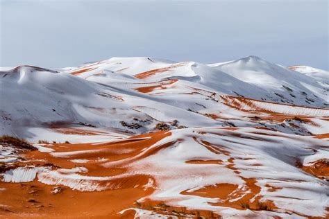 sahara snowfall how to visit the sahara s snow capped sand dunes london