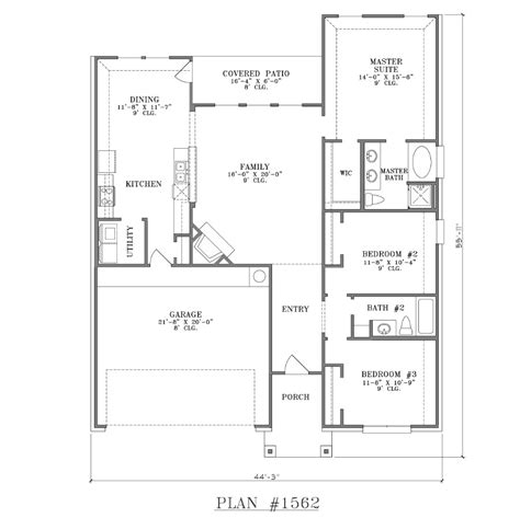 floor plan house 3 bedroom 3 bedroom