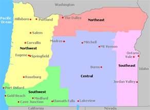 oregon wine regions map map of oregon