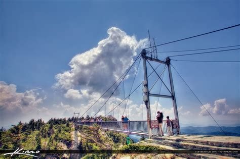 grandfather mountain mile high swinging bridge linville product categories royal stock photo