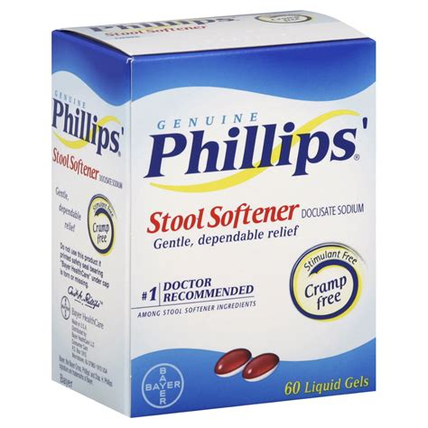 Constipation With Liquid Stool by Phillips Stool Softener Liquid Gels 60 Count Jet