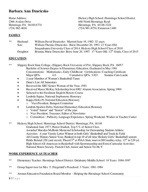 P G Resume Upload by Barb Resume 2015 Updated Jan 15