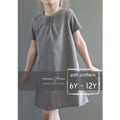 blouse pattern making tutorial pdf pintuck blouse and dress pdf pattern and tutorial 6 12y easy