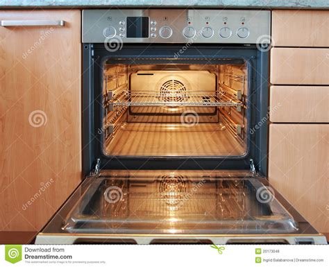 Kitchen Cabinet Inside Designs open oven stock photo image of facility stove racks