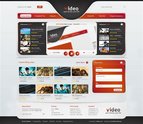 design layout web online portal video web design layout web design layouts