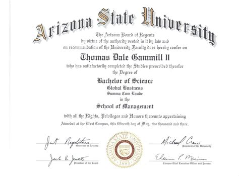 Of Arizona Mba Requirements by Business Degrees Asu Business Degree