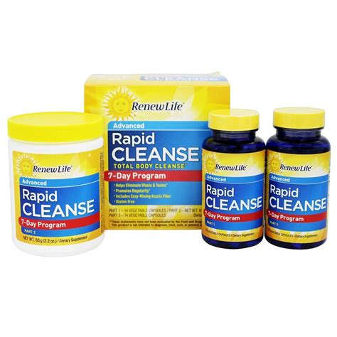 Renew Detox Products by Buy Renew Total Rapid Cleanse 3 Part Programs