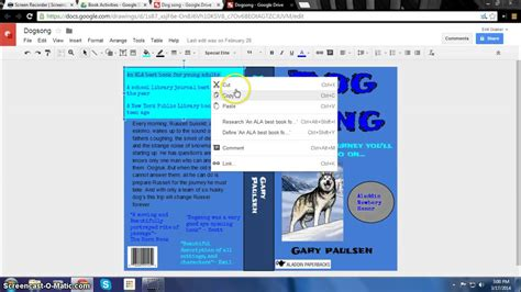 book layout google docs how to make a digital book jacket in google drawing youtube