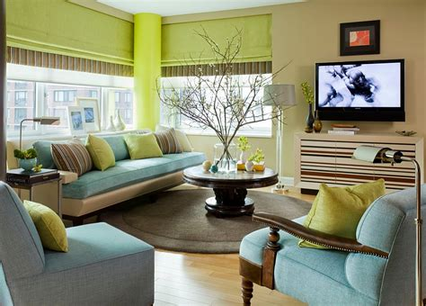 blue green living room 25 green living rooms and ideas to match