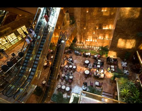 trump tower inside ariel view of the atrium inside trump tower located on