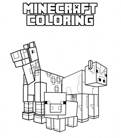 free coloring pages of minecraft dogs