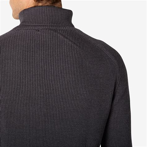 st st knitting term le mont st michel rib knit turtleneck in gray for