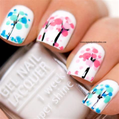 nail painting free nail blooming trees my nail