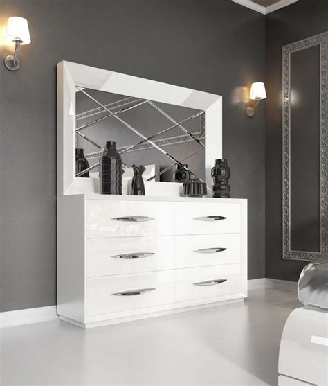 eleonora white double contemporary dressers modern dresser