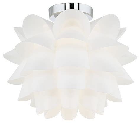 Flower Ceiling Light Possini Design White Flower 15 3 4 Quot Wide Ceiling