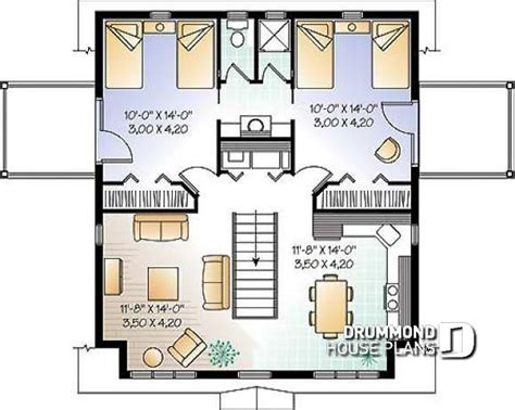 2 Bedroom Garage Apartment Plans by House Plan W2931 Detail From Drummondhouseplans