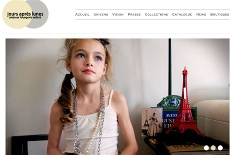 illegal petite french line offers lingerie for girls as young as four