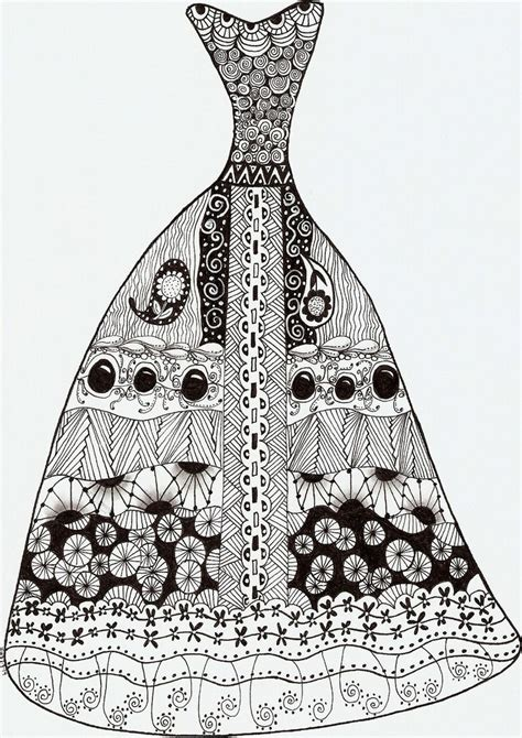 zentangle pattern lace 17 best images about zentangles dresses on pinterest