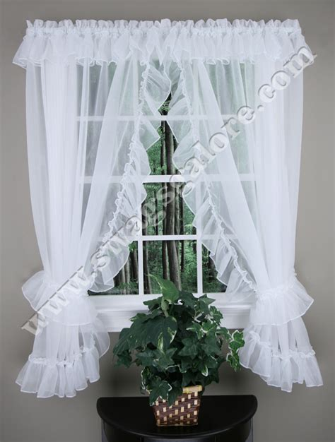sheer priscilla curtains jessice sheer ruffled priscilla curtains style 2830 100