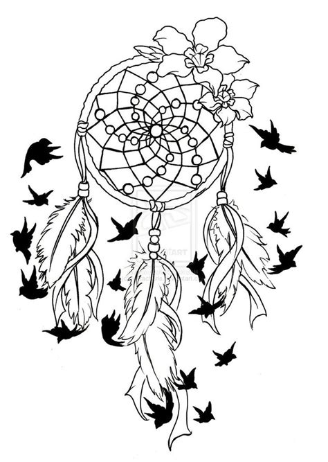 design dream birds animal coloring pages dream catchers dream catcher birds