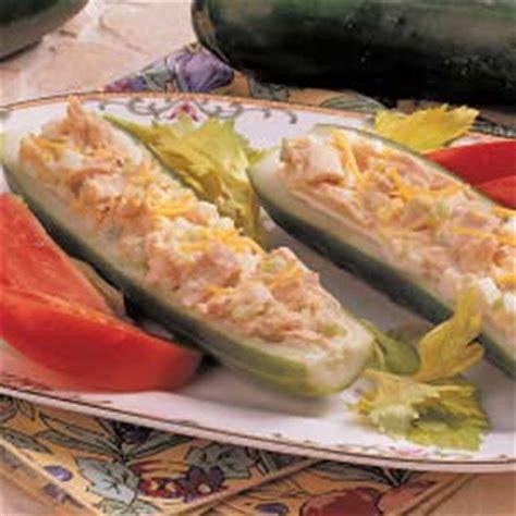 cucumber taco boats cucumber tuna boats recipe taste of home