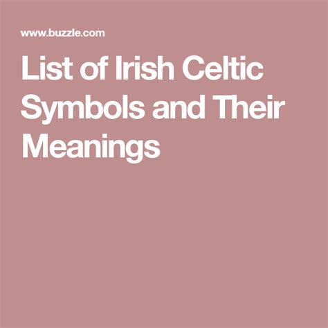 Irish Tattoos And Their Meanings Karnetfo