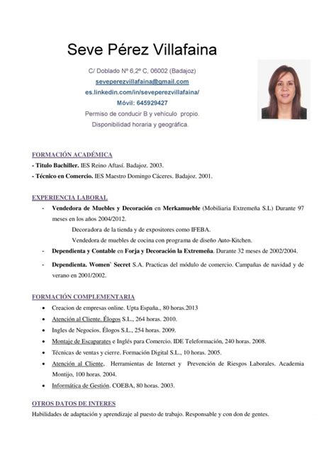 Modelo Curriculum De Trabajo Modelo De Cv Corto Para Ventas Y Mercadeo Curr 237 Culum Entrevista Trabajo
