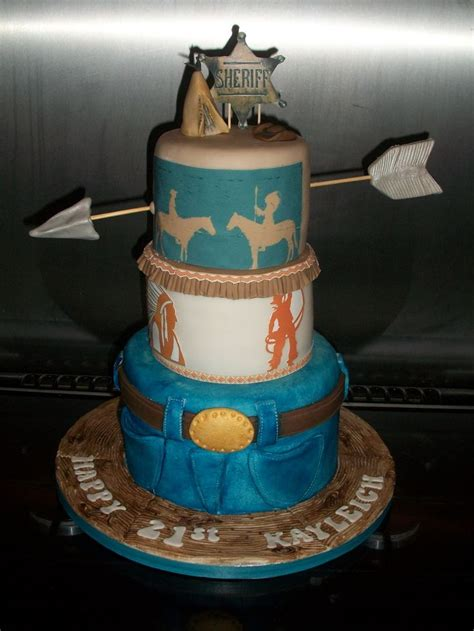 cowboys  indians themed cake tee pee birthday pinterest cowboys  indians cowboys
