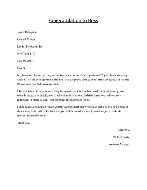 Official Letter Best Wishes Congratulations Letter To Congratulations Formal Business Letters And Greeting