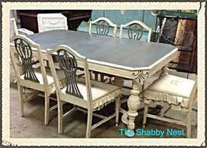 Painted Dining Room Sets by Dining Room Set Chalk Milk Paint Redo