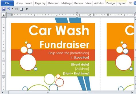 car wash tickets templates free door hanger flyers template for word powerpoint presentation