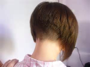 redhair nape shave shaved nape haircuts for women short hairstyle 2013