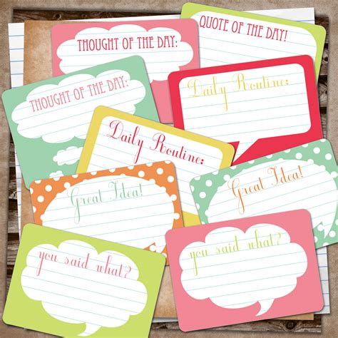 free design journals rebeccab designs free printable speech bubble journal cards