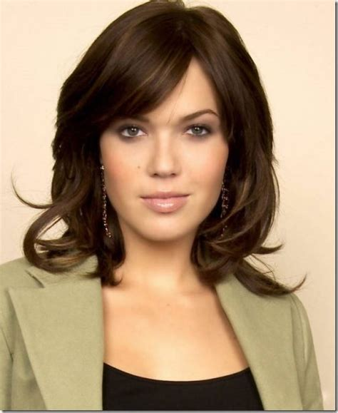 great haircuts and color mandy moore hair looks great for a round face and dark