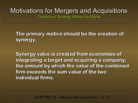 mergers acquisitions and corporate restructurings wiley corporate f a books chapter 15 mergers and acquisitions