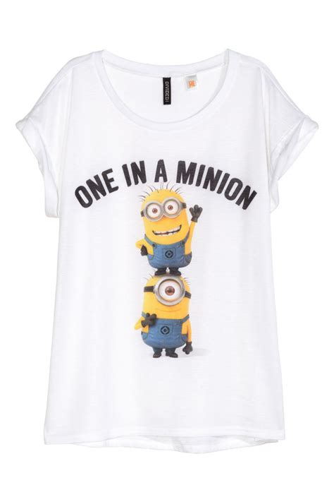 Setelan Hm 2 T Shirt Minion t shirt with printed design white minions sale h m us